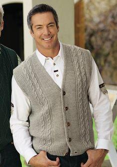 ideas for knitting men cardigan free pattern yarns Gents Sweater, Mens Knit Sweater, Knit Jacket, Men Cardigan, Baby Knitting Patterns, Knitting Designs, Crochet Men, Knit Vest Pattern, Latex Fashion