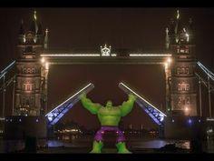 Hulk Hologram Ushers Disney Infinity: Marvel Super Heroes Into London By Opening Tower Bridge   Comicbook.com