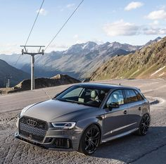 Image may contain: mountain, sky, car, outdoor and nature Audi Tdi, Audi A3 Sportback, Audi Cars, Super Sport Cars, Audi Sport, Tuner Cars, Sweet Cars, Audi Quattro, Luxury Cars