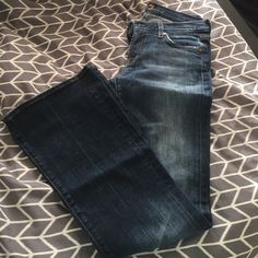 7 flare-style jeans 7 flare-style jeans. BARELY WORN! Worn only 2-3 times. 7 for all Mankind Jeans Flare & Wide Leg