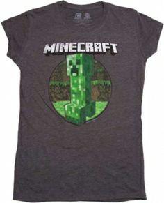26 best minecraft kids and teens t shirts images on pinterest minecraft creeper retro juniors t shirt for girls httpwww urtaz Gallery