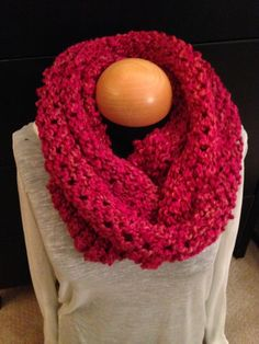Handmade knit infinity winter scarf - Tulips.  By: Scarves by Chelsey   #knit #infinity #scarf #handmade #scarves #winter #warm #fashion www.facebook.com/scarvesbychelsey Check us out on Etsy!