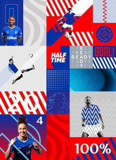 Visual Identity, Brand Identity, Rangers Fc, Rangers Football, Theme Sport, Sports Graphic Design, Sport Design, Plakat Design, Activities For Kids