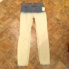 Urban Outfitters Ombré Jean Denim fade to white. Never worn. BDG Urban Outfitters Jeans Straight Leg
