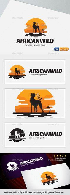 African Wild: Abstract Logo Design Template created by graphicganga. Logo Design Template, Logo Templates, Barbados, African Logo, Travel Book Layout, Invert Colors, Wild Logo, Abstract Logo, Travel Logo