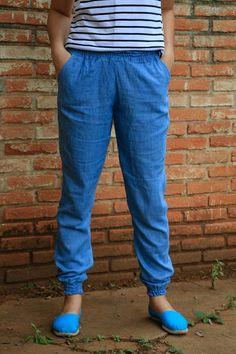 I made Jogger pants in chambray! Agulha de Vinil | Costura e DIY