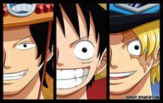 One Piece - Brothers by SergiART.deviantart.com on @deviantART