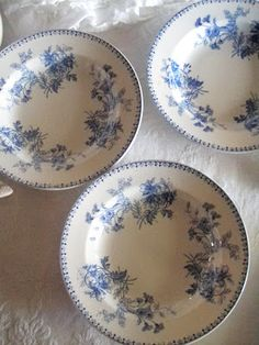 Blue and White French Transferware Bowls