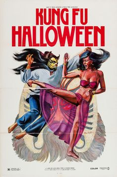"""movieposteroftheday: """"US one sheet for KUNG FU HALLOWEEN aka FIGHT FOR SURVIVAL (Cheng Hou, Taiwan, 1977) Artist: Ken Hoff Poster source: Heritage Auctions """"Don't bother looking up the cast and directors printed on this poster, just refer to the IMDB..."""