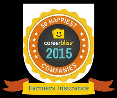 50 Happiest Companies Spotlight: Farmers Insurance. Discover why @WeAreFarmers employees are so HAPPY + They are Hiring!   http://bit.ly/1OyUuxA