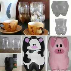 Vaca pet reciclado - cow & pig pet recycled