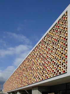 Spanish practice Mestura Arquitectes' CEIP primary school near Barcelona is fronted by a double skin of ceramic components forming a lattice, supplied by veteran ceramicist Toni Cumella