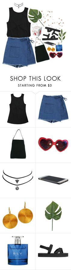 """Monstera"" by lsaroskyl ❤ liked on Polyvore featuring Ann Demeulemeester, Moschino, Bulgari and H&M"