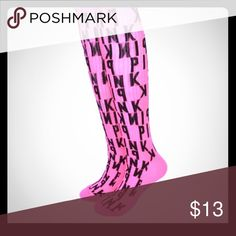 Super cute PINK by VS high sock Super cute NEW PINK by VS high sock one size PINK Victoria's Secret Other