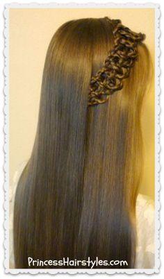 Cute braided 4 strand slide up braid hairstyle tutorial
