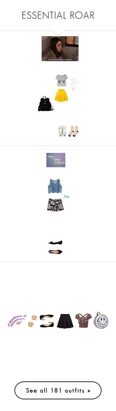 """""""ESSENTIAL ROAR"""" by wehatehannah ❤ liked on Polyvore featuring LE3NO, Prada, Hansel from Basel, Wet Seal, Gabriella Rocha, GoodWood, Girls On Film, Petals and Peacocks, Kate Spade and Valentino"""