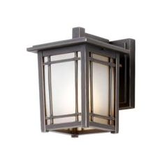 Hampton Bay Mission Hills Wall Mount 1 Light Outdoor Oil Rubbed Chestnut  Lantern Model