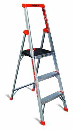 heavy duty step ladder folding lightweight huge platform storage purpose 5 foot