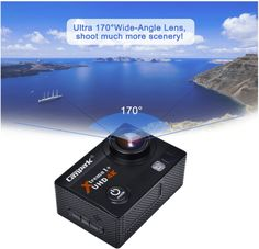 The Campark ACT74 currently has a 2 inch LCD screen, photo resolutions of up to 16 MP, and video resolution from 720p at 30 FPS up to 4K at 40 FPS