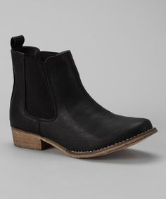 Take a look at this Black Maya Ankle Boot by Bucco on #zulily today!