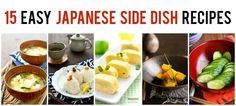 Colorful Japanese side dish make the meal more appetizing, enjoy these simple Japanese side dishes by themselves or together with the main dish.