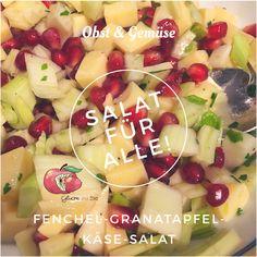 Obst trifft Gemüse und ich nehme das oft ganz wortwörtlich und heute gibts Fenchel mit Granatapfel und Tipps wie man den Granatapfel richtig schält. #recipe