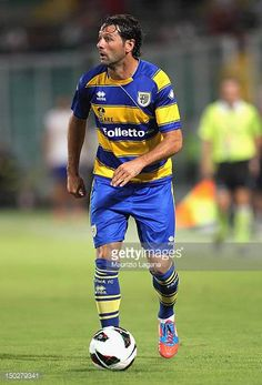 Massimo Gobbi of Parma during the preseason friendly match between US Citta di Palermo and Parma FC at Stadio Renzo Barbera on August 12 2012 in...