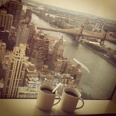 No view quite like a New York coffee break!  #caravellenewyork #hsamuel