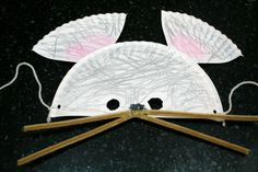 Paper Plate Mouse Mask, inspired by The Little Mouse, The Red Ripe Strawberry, and The Big Hungry Bear