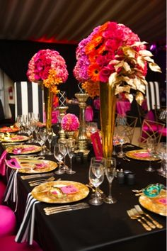 1000 Images About Black White And Gold Tablescapes On Pinterest Black And White Black And