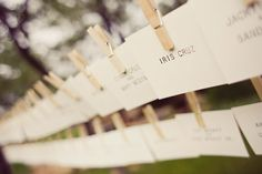 clothes pin name cards