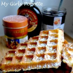 """Waffles of Grand Mère Bocuse Waffle of Grand Mère Bocuse, taken from the e book """"All of the Delicacies of Paul Bocuse"""" Flammarion. Nutella Crepes, Desserts With Biscuits, Waffle Bar, Crepe Recipes, Best Chef, Cookie Recipes, Breakfast Recipes, Food And Drink, Favorite Recipes"""