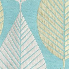 "HGTV Home Loose Leaf Turquoise 57"" Fabric"