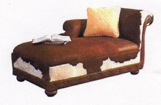 cowhide furniture - laptop(check) sweet Ice tea (check) reruns of Dallas(check) nap I'm ready. Thrift Store Furniture, Refurbished Furniture, Repurposed Furniture, Shabby Chic Furniture, Rustic Furniture, Furniture Makeover, Vintage Furniture, Cool Furniture, Cowhide Furniture