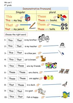 Ficha de This - That - These - Those English Activities For Kids, English Grammar For Kids, English Worksheets For Kindergarten, Learning English For Kids, Teaching English Grammar, 2nd Grade Worksheets, English Lessons For Kids, English Writing Skills, Has Have