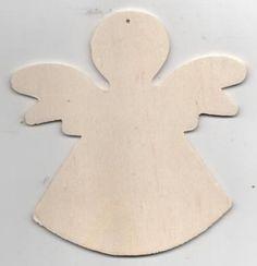 Ange bois à peindre 110 mm x 110 mm http://fournitures-loisirs.les-creatifs.com/brico-deco.php?refer=Ange-bois-11-cm pour la décoration