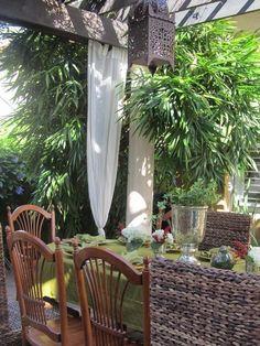 patio design ideas backyard decorating dining furntiture garden lantern moroccan style