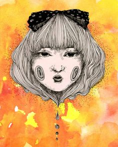 Melting Girl Art Print by Amimi Cheng available on Society6