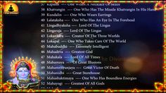 108 Names of Lord Shiva with English Meaning