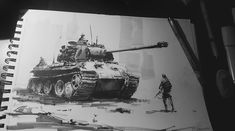 "ArtStation - Inktober #2 2016 Panther ""ready to move!"", Darek Zabrocki"