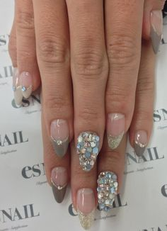 Like the french part not the crystals.  Maybe only one per nail?