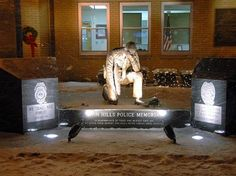 Pictured here is the Penn Hills Fallen Officers Monument designed and built by Rome Monument. The law enforcement memorial, erected in honors the municipality's fallen police officers. Penn Hills, Law Enforcement Memorial, Fallen Officer, Granite Colors, Veterans Memorial, Park City, Monuments, Rome, Police