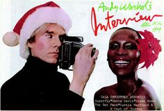 Naomi Sims & Andy Warhol. Cover of Interview magazine. 1972.