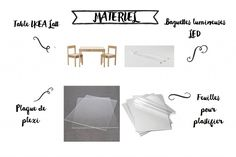 DIY- une table lumineuse - Milk and FabricMilk and Fabric