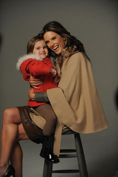 Alessandra Ambrosio with daughter