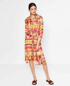 Image 1 of TIE-DYE TUNIC from Zara