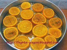 Καραμελωμένα πορτοκάλια - από «Τα φαγητά της γιαγιάς» Greek Recipes, Lemon, Food And Drink, Cookies, Chicken, Orange, Fruit, Desserts, Meal