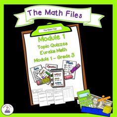 Eureka Math Engage NY Grade 3 Module 1 Quizzes - Editable