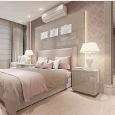 The Meaning Of Gray Bedroom Design Pictures Remodel Decor And Ideas 28 - lowesbyte Gold Bedroom, Dream Bedroom, Bedroom Decor, Bedroom Ideas Rose Gold, Romantic Master Bedroom, Feminine Bedroom, Suites, Luxurious Bedrooms, New Room