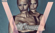 Lady Gaga and Daphne Guinness pose provocatively for V magazine Daphne Guinness, V Magazine, Lady Gaga, Alexander Mcqueen, Skull, Singer, Poses, Celebrities, Artist